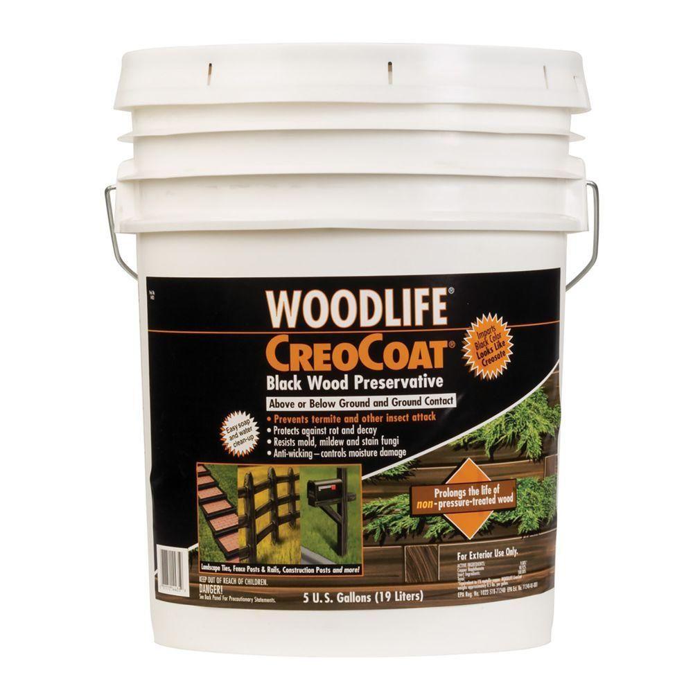 Wolman 5 Gal Creocoat Black Below Ground Wood Preservative Wood Preserves Barn Kits