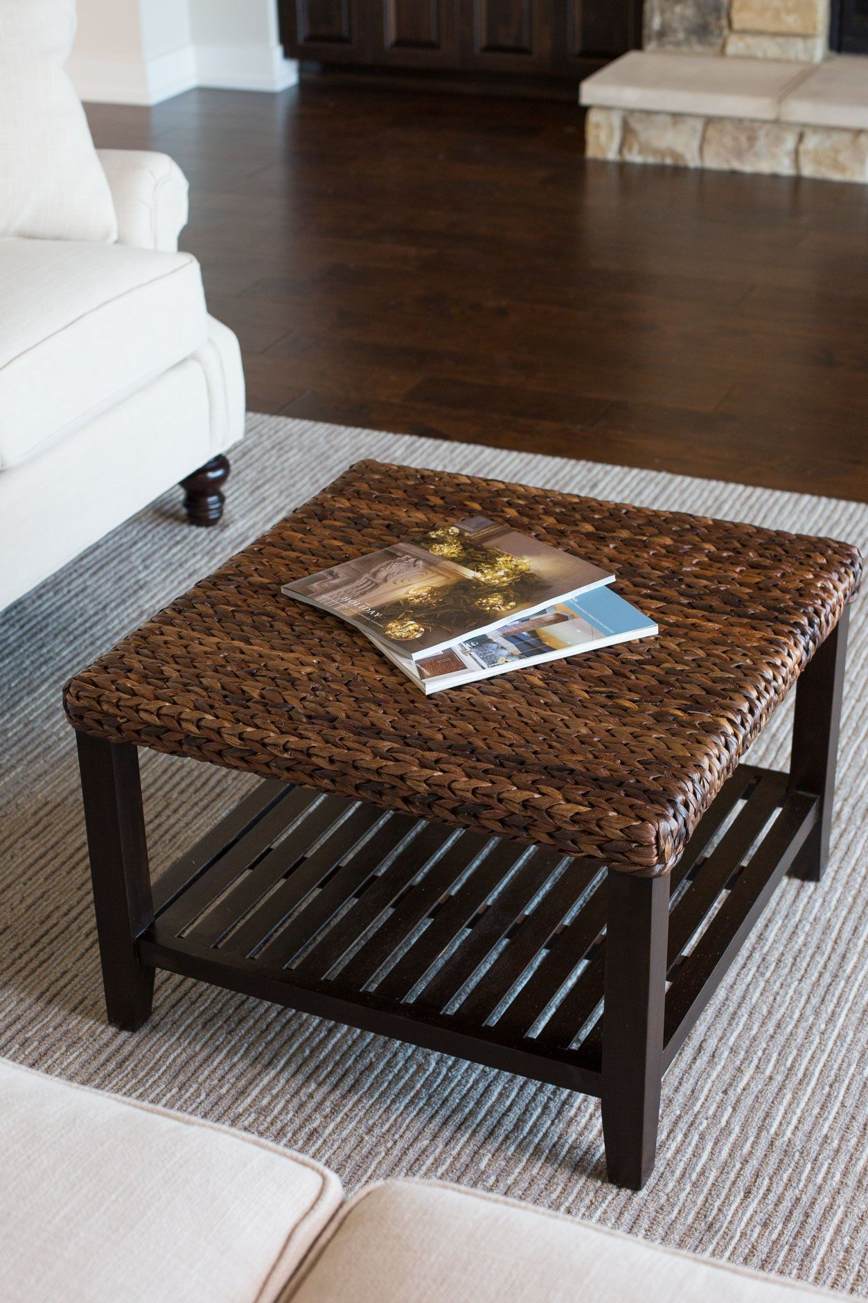 Birdrock Home Woven Seagrass Coffee Table Mahogany Wood Frame Fully Assembled You Can Get Addit Wicker Coffee Table Coffee Table Traditional Coffee Table [ 1880 x 1253 Pixel ]