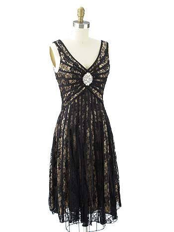 20s Inspired Lace Cocktail Dress