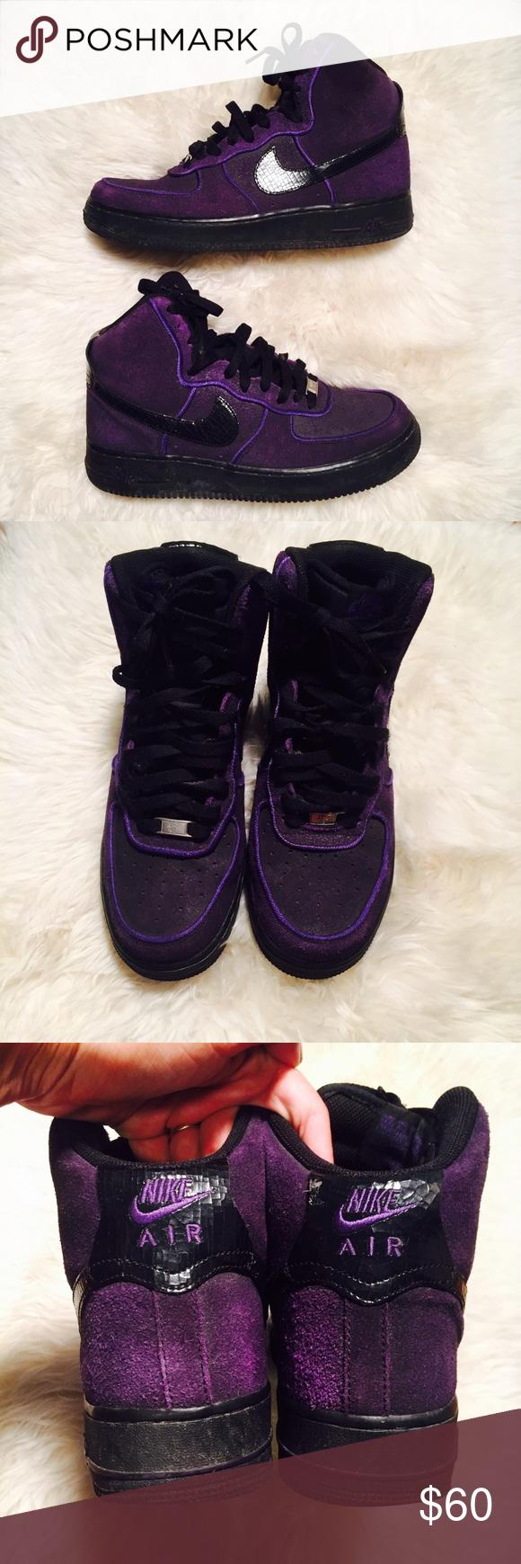 NIKE AIR AF1 '82 Suede Purple GUC Black