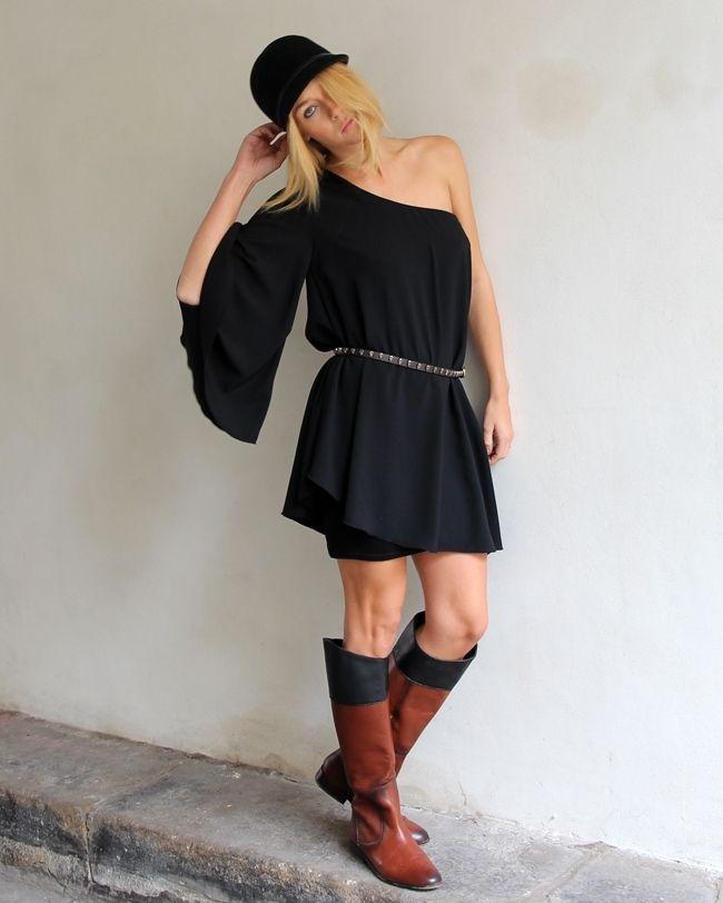 one shoulder dress, Brandy Melville