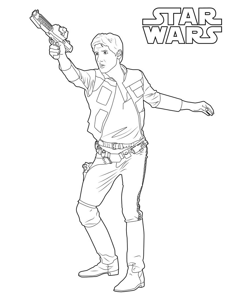 Han Solo Coloring Pages Best Coloring Pages For Kids Star Wars Drawings Star Coloring Pages Star Wars Stencil