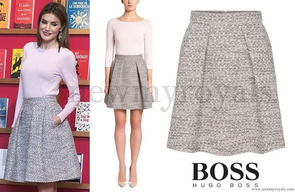 HUGO BOSS Rizalia Flared Skirt