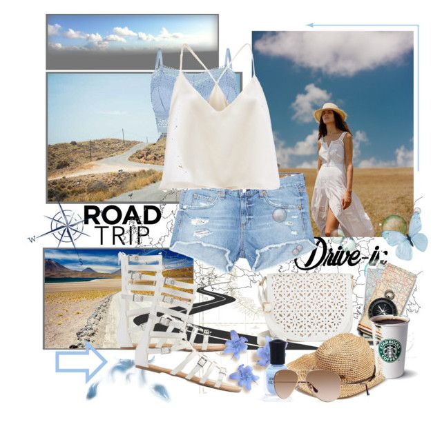"""On the Road ...."" by susanlo ❤ liked on Polyvore featuring Levi's, Lipsy, rag & bone/JEAN, Under One Sky, Wild Diva and Deborah Lippmann"