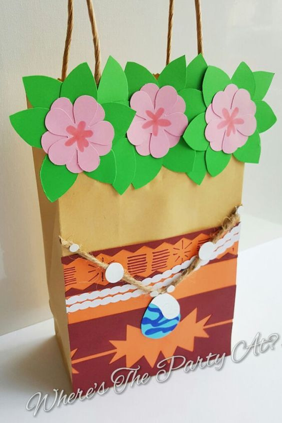 Disney Moana Inspired Favor Bags Goodie