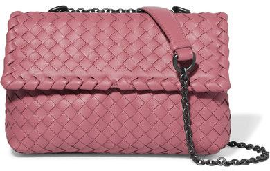 Bottega Veneta - Olimpia Baby Intrecciato Leather Shoulder Bag - Pink