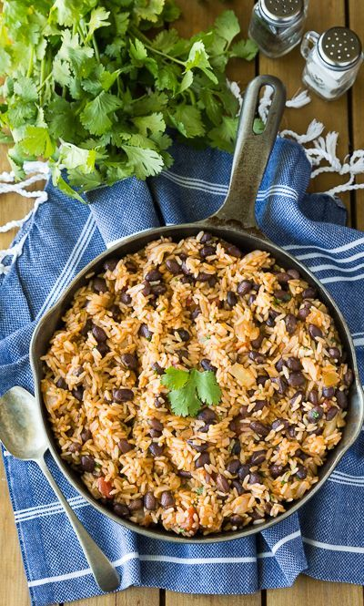 Easy Spanish Rice With Beans