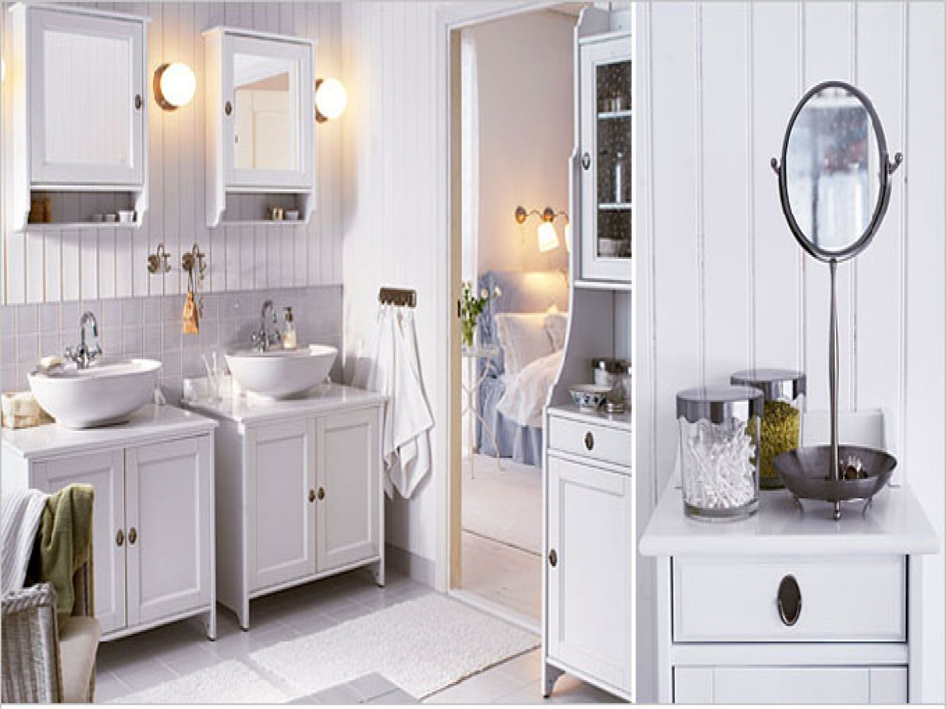 picturesque white bathroom vanities canada. Furniture  Beautiful Sweet And Stylish IKEA All White Bathroom Interior Design With Twin Vanities Cabinet Set Also Wood Wall Panels Drawing of Ikea Bath Invades Every with Dignity
