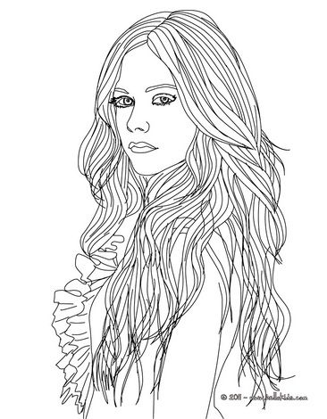 lavigne coloring pages avril lavigne fashion designer coloring - Coloring Pages With Designs