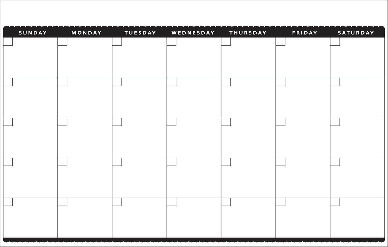 Cute Printable Blank Calendar Weekly Schedule Printable Blank
