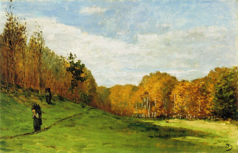 Claude Monet Wood Gatherers at the Edge of the Forest c. 1863 59.7 x 90.2 cm Oil on panel Museum of Fine Arts, Boston