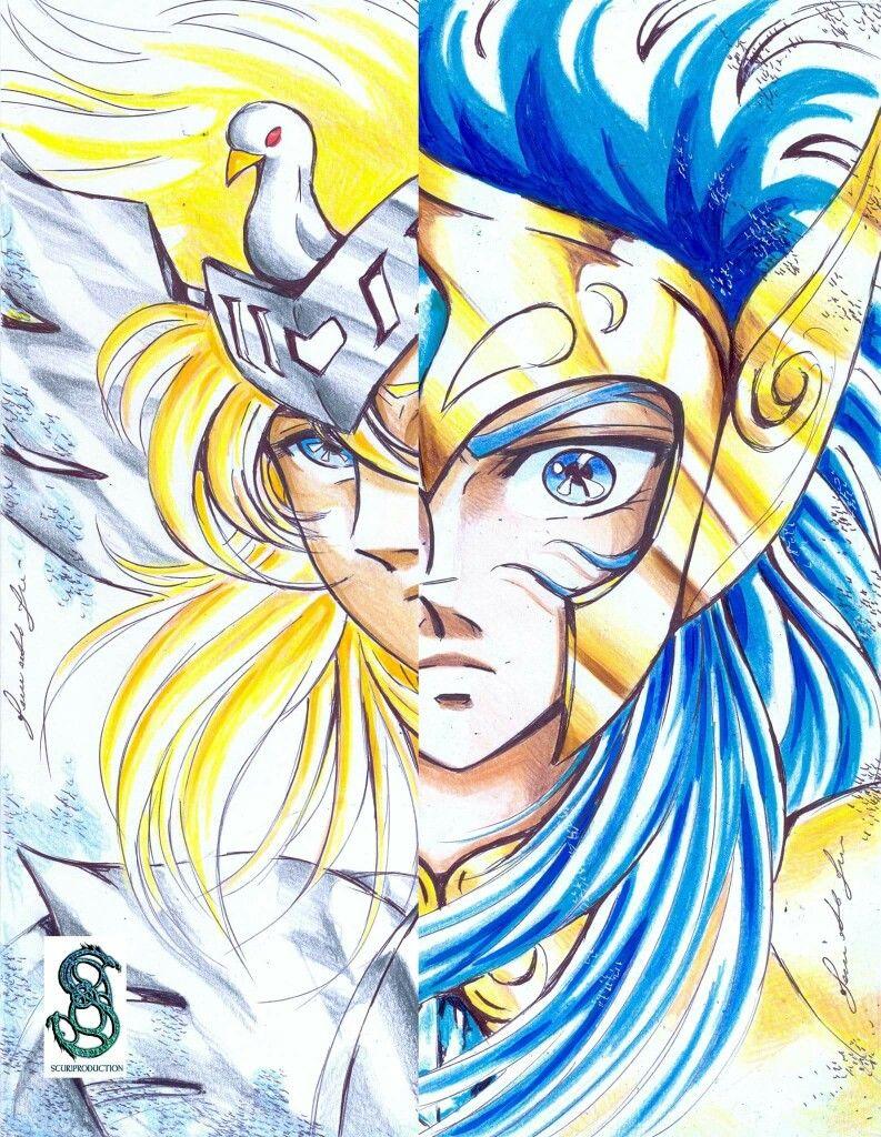 Hyoga De Cisne Camus De Acuario Dibujos Saint Seiya Los Caballeros Del Zodiaco