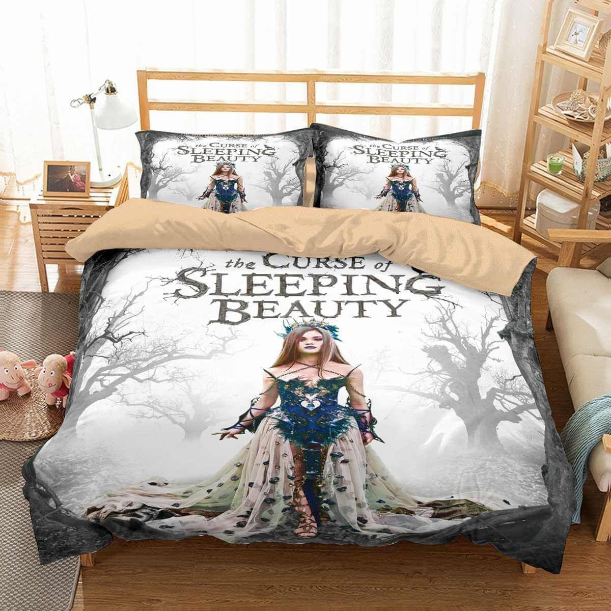 3d Customize The Curse Of Sleeping Beauty Bedding Set Duvet Cover Set Bedroom Set Bedlinen Duvet Bedding Sets Duvet Cover Sets Customised Bed Bedroom set genshin impact