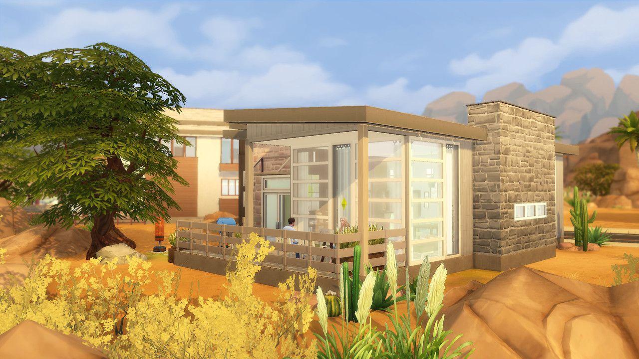 Fresh Desert Small House In Oasis Springs Sims 4