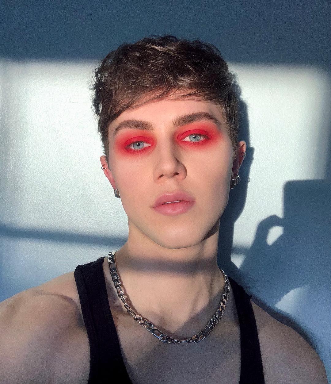 ᴘɪɴᴛᴇʀᴇsᴛ┊ᴄʟᴏᴜᴅxᴏɴᴇ ༉‧₊˚ Punk makeup, Androgynous makeup