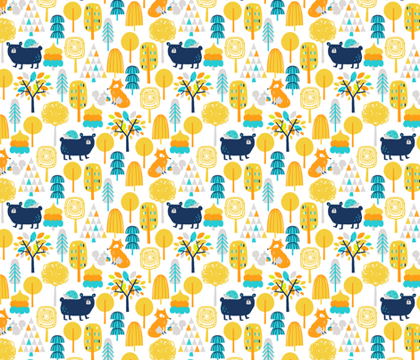 Forrest_Friends fabric by lizmytinger on Spoonflower - custom fabric