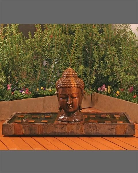 Large Buddha Head Fountain: Buddha Outdoor Water Fountain
