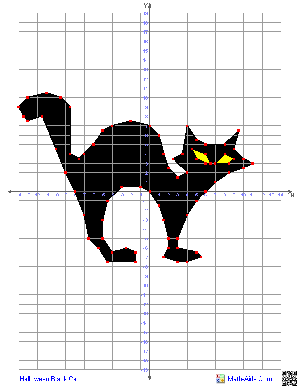 Halloween Black Cat Math Aids Com Graphing Worksheets