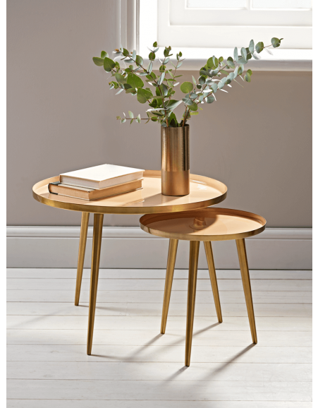 Small Nest Of Tables Dark Wood