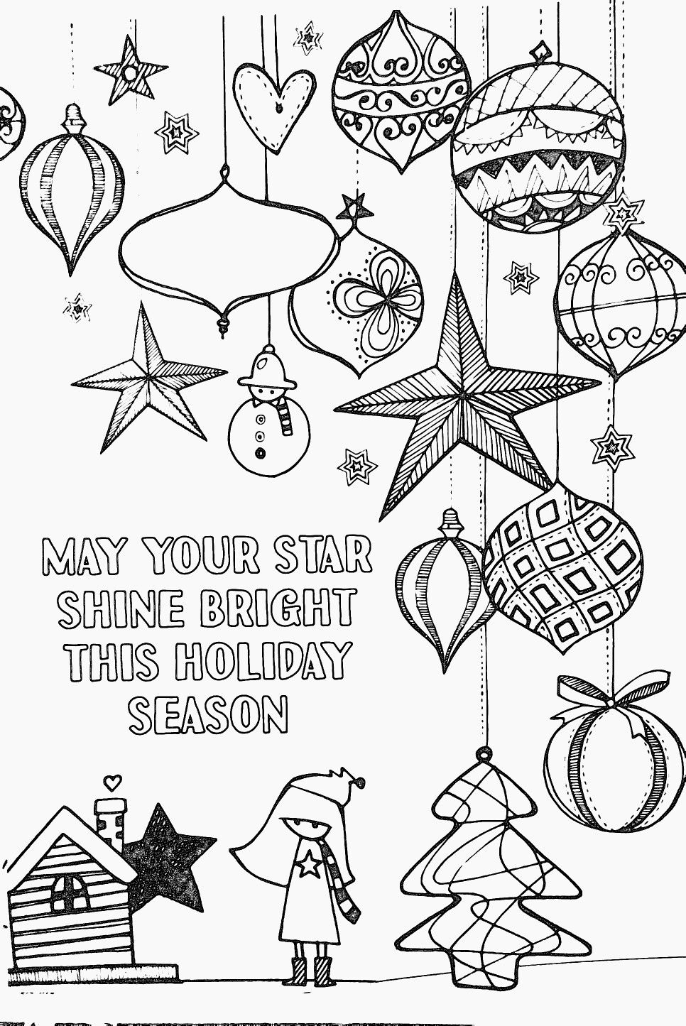 Shine Like The Stars. Coloring Page. Vector Illustration. Stock ... | 1445x966