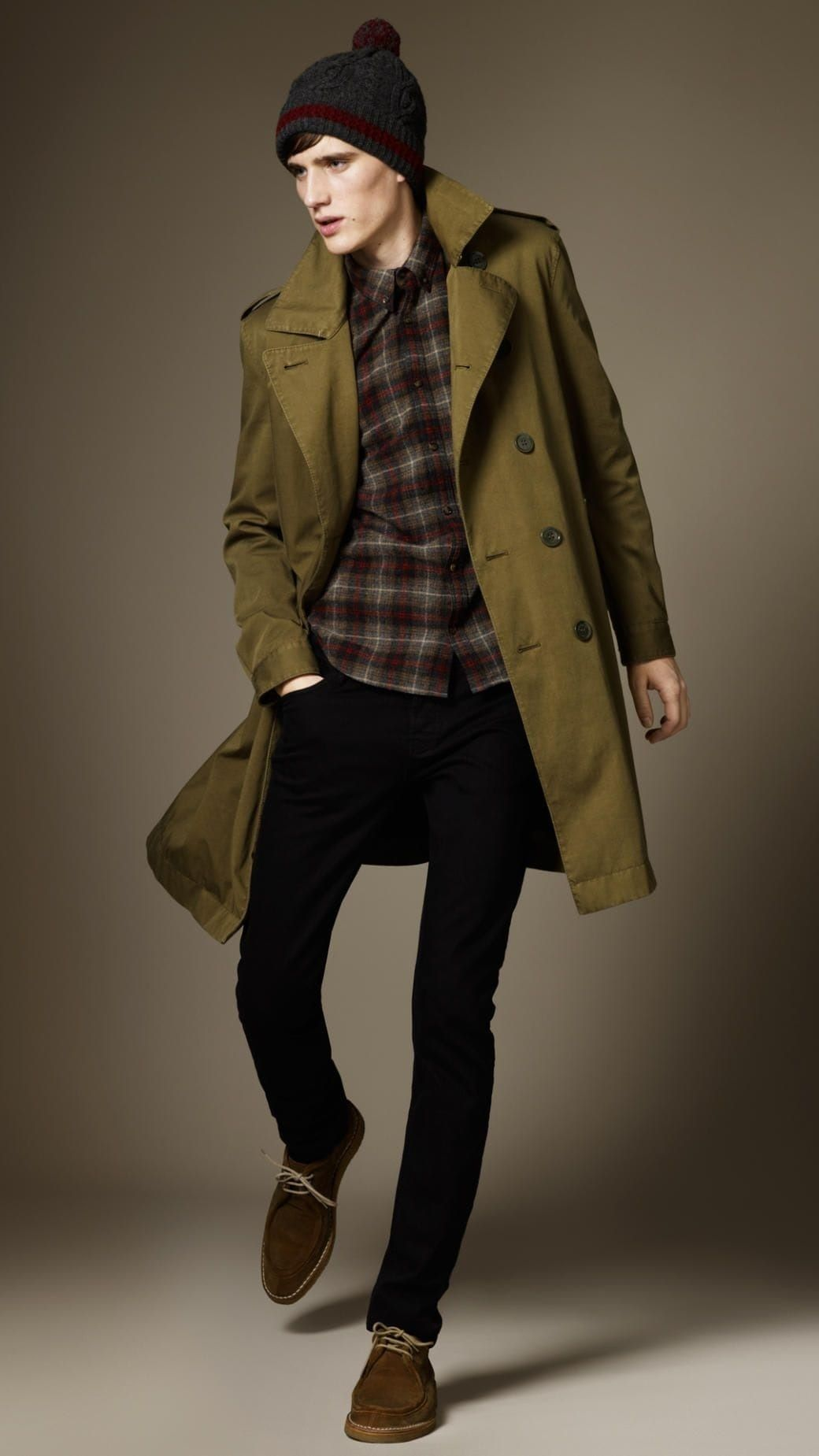 Men s Fall Fashion Staples 2018, trench coat, men s Burberry olive green trench  coat 54fbacfc42cd
