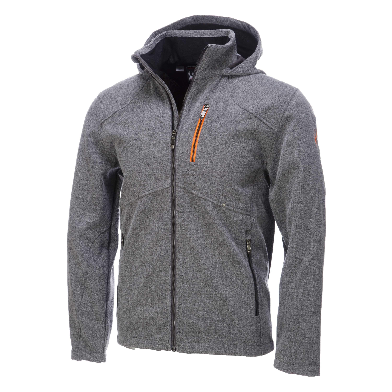 Spyder, Patsch Novelty softshell ski jacket, men, Polar grey - Bryte orange  The
