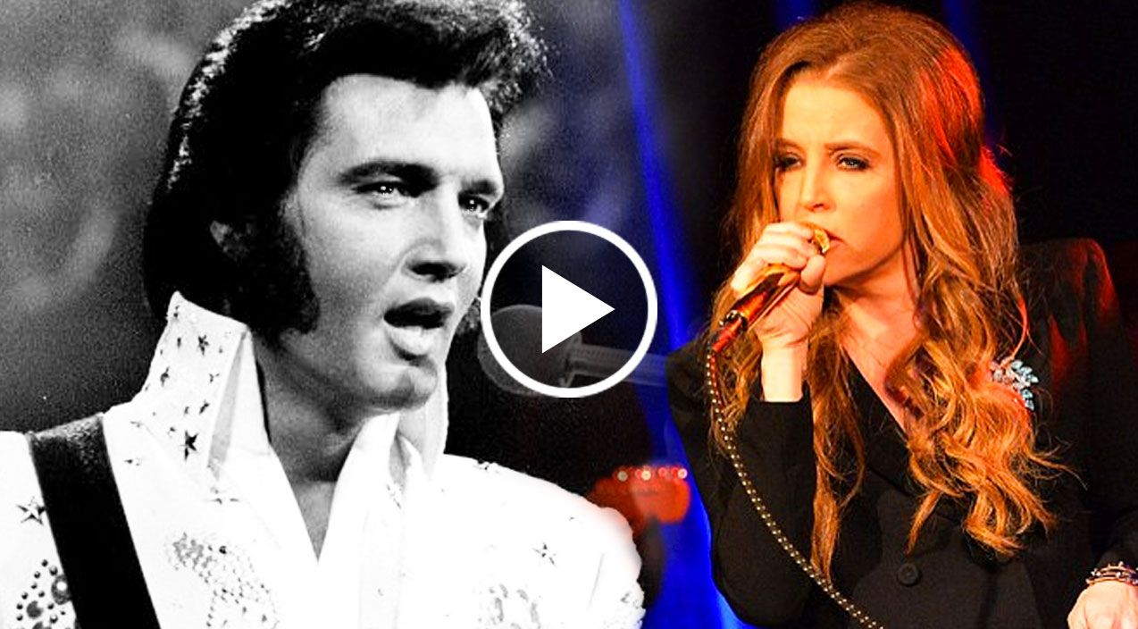 Elvis Presley And His Daughter, Lisa Marie Presley, Singing