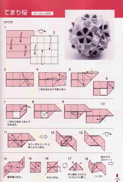 Photo of ADOBRACY: Diagramm der Kusudama-Kirschblüte