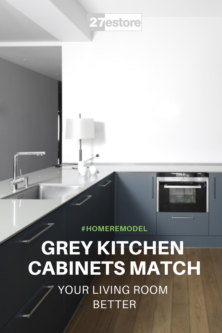 Grey Kitchen Cabinets Match Your Living Room Better Grey Kitchen Cabinets Grey Kitchen Kitchen Cabinet Trends