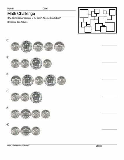 Free Printable Touchpoint Math Worksheets : Free printable touchpoint coins math counting coin