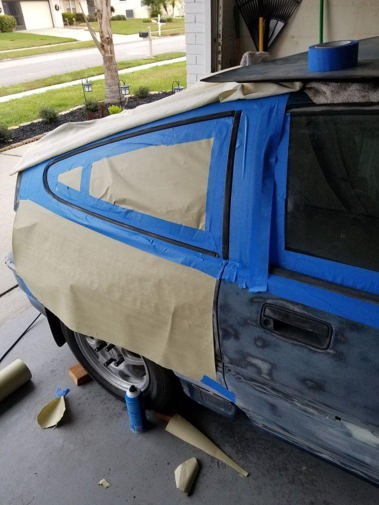 Taping Off Trim To Paint Honda Crx