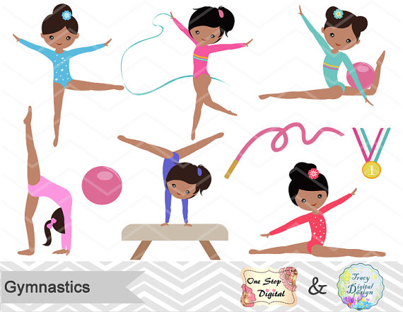 Gymnastics Digital Clipart 536b2488ed770