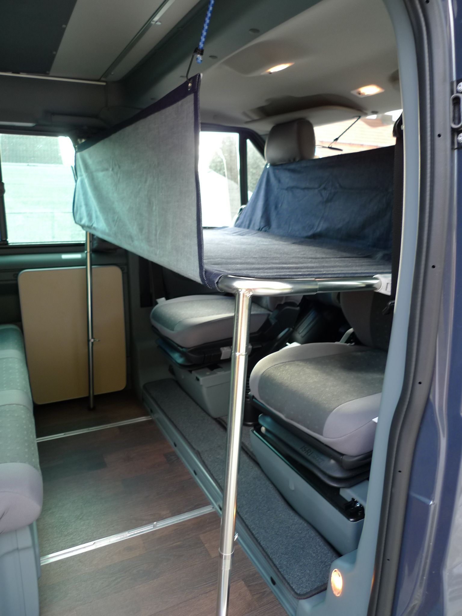 Cot Ford Nugget cab -  Cot driver cabin Ford Nugget at purple bus shop  -