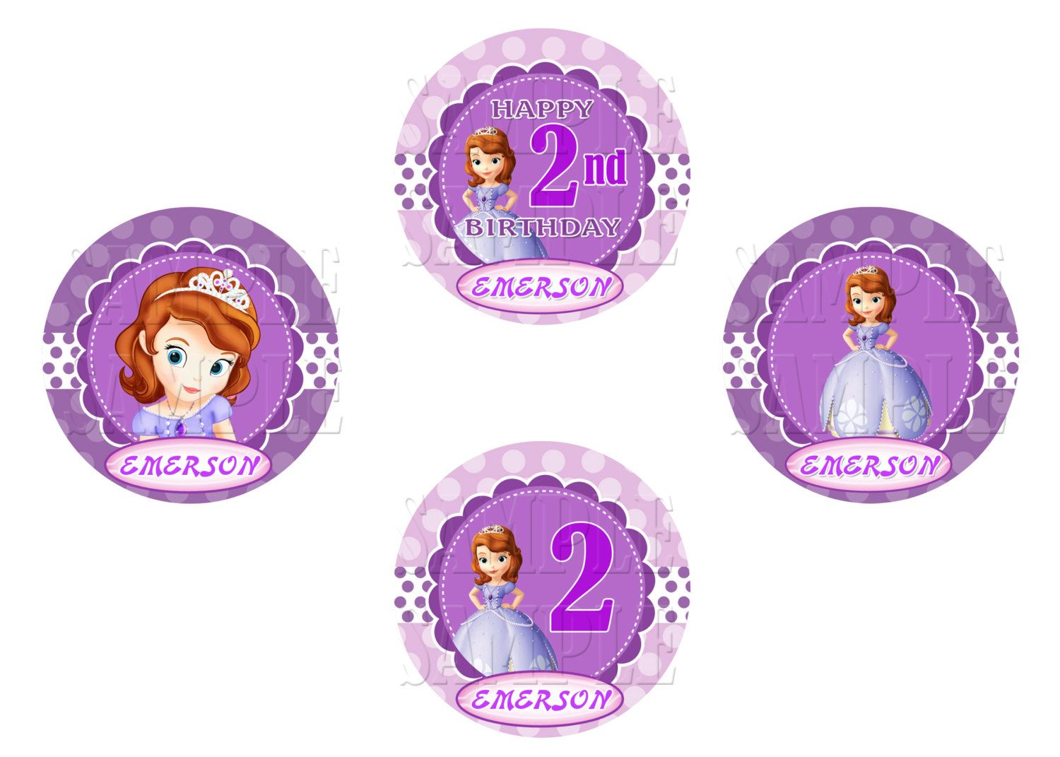 sofia the first cupcake toppers sofia birthday party toppers sofia party printable 499