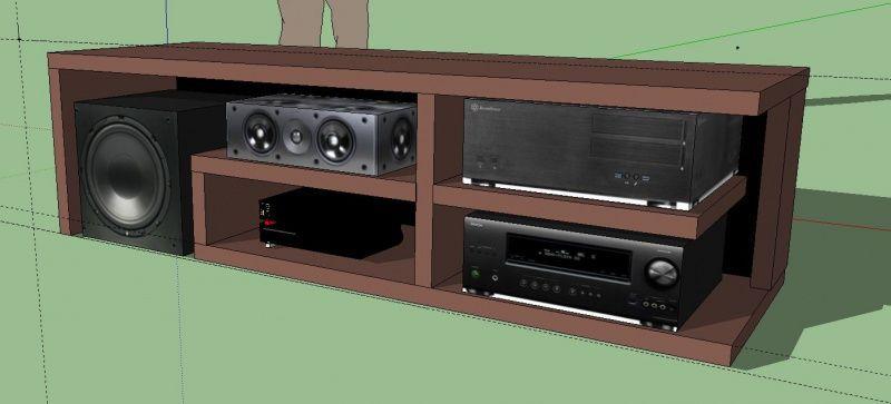 meuble tv ikea home cinema il y a un espace l arrire pour recevoir la