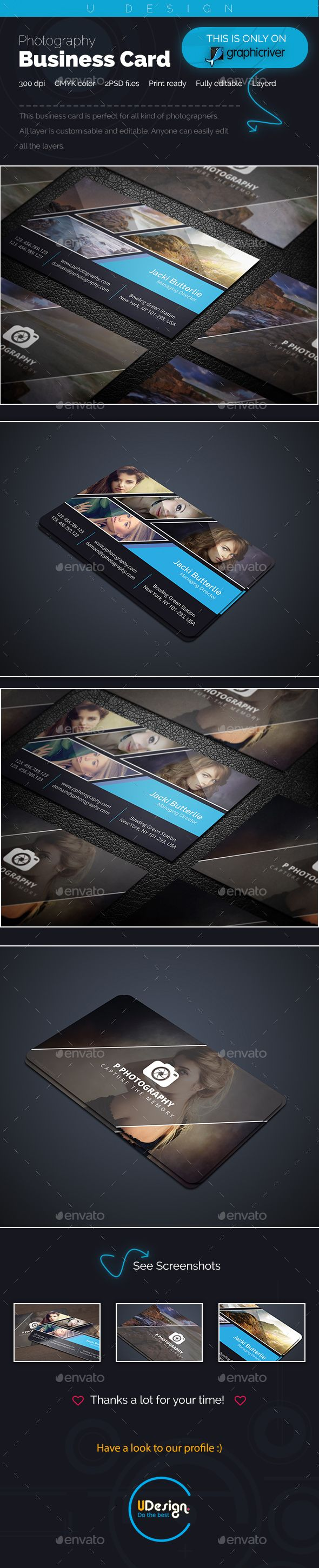 Photography Business Card - Business Cards Print Templates Download here : https://graphicriver.net/item/photography-business-card/19108973?s_rank=181&ref=Al-fatih