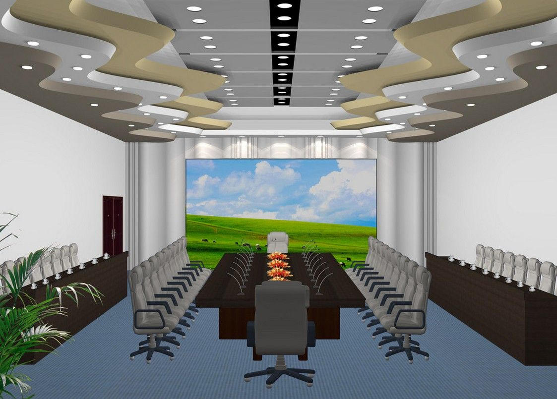 Genius And Inspirational Conference Room Ceiling Designs With Simple White  Color Design | Ceiling Design | Pinterest | Conference room, Ceilings and  ...