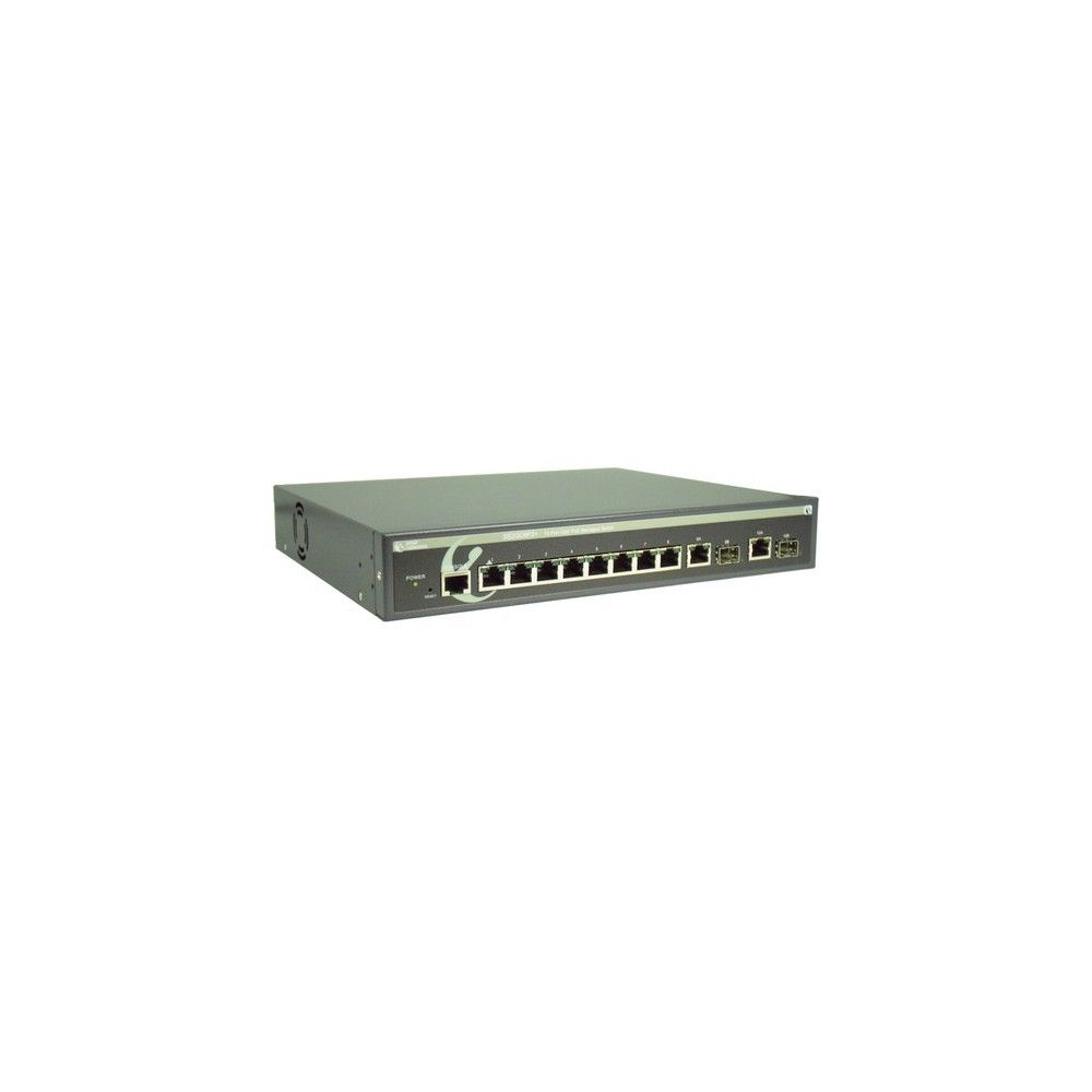 Amer 10 Port 10 100 1000 Mbps Poe Switch 10 Ports Manageable 2 Layer Supported Twisted Pair Optical Fiber Desktop Ra Fiber Optic Twisted Pair Port