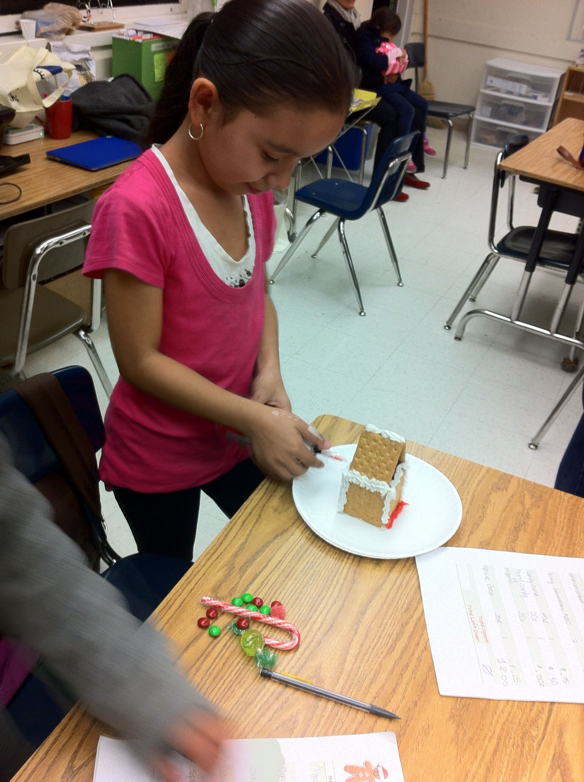 Gingerbread House In Process