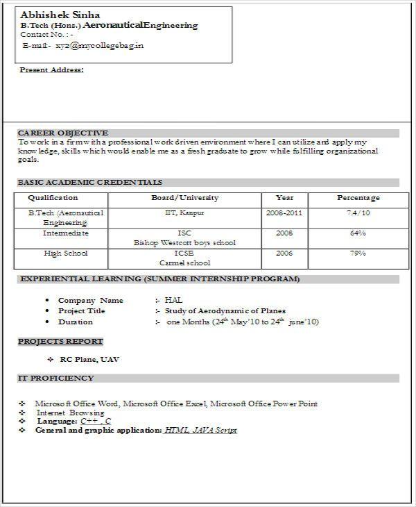 formal biodata samples resume