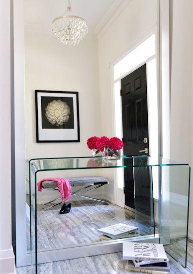Jodie Rosen Design Modern Foyer Design With Lucite