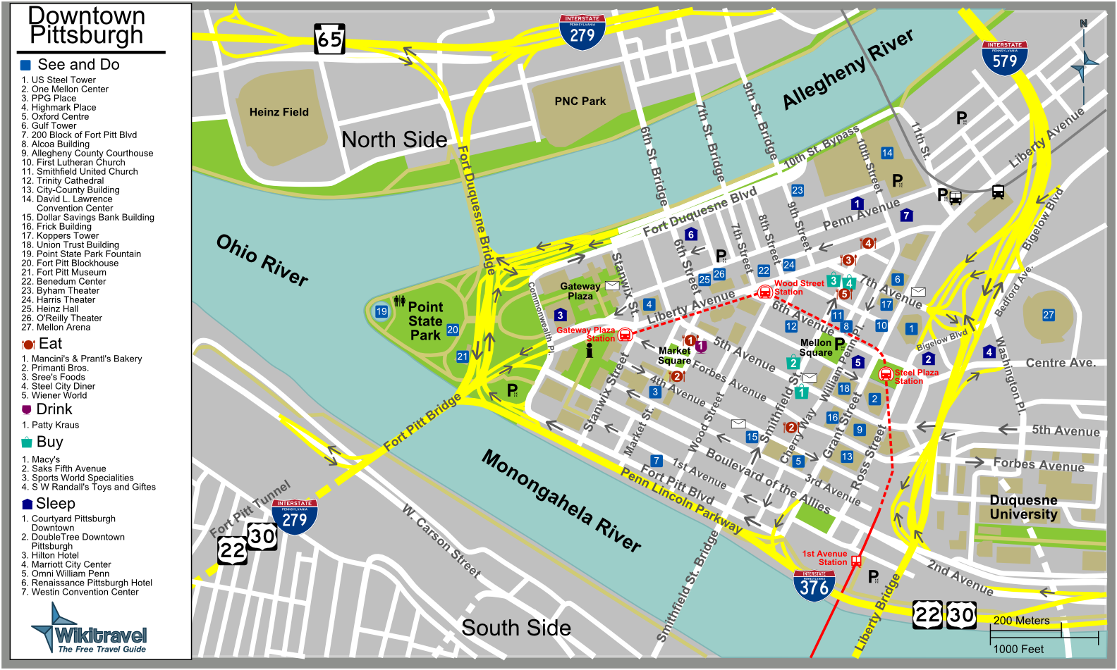 pictures of pittsburgh pa | Pittsburgh Tourist Map - Pittsburg ...
