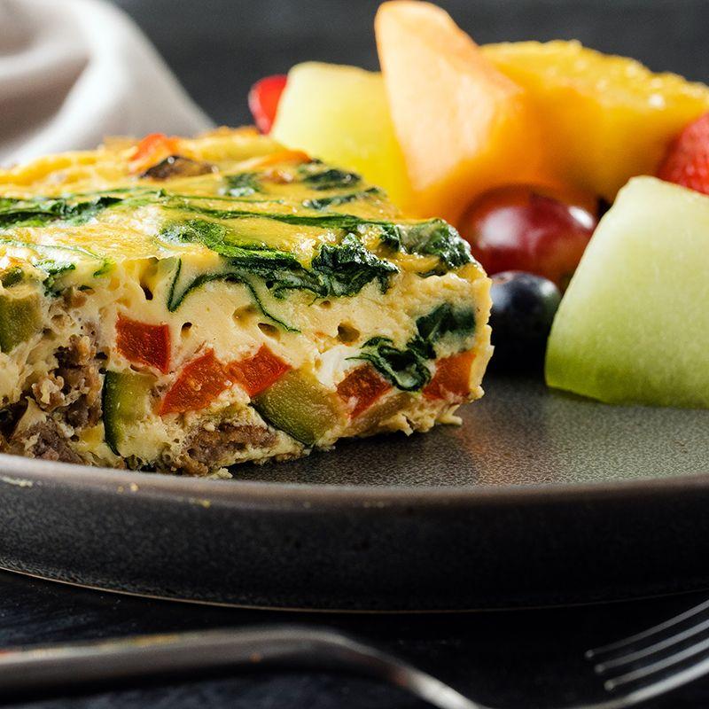 Dairyfree sausage and egg breakfast casserole recipe in