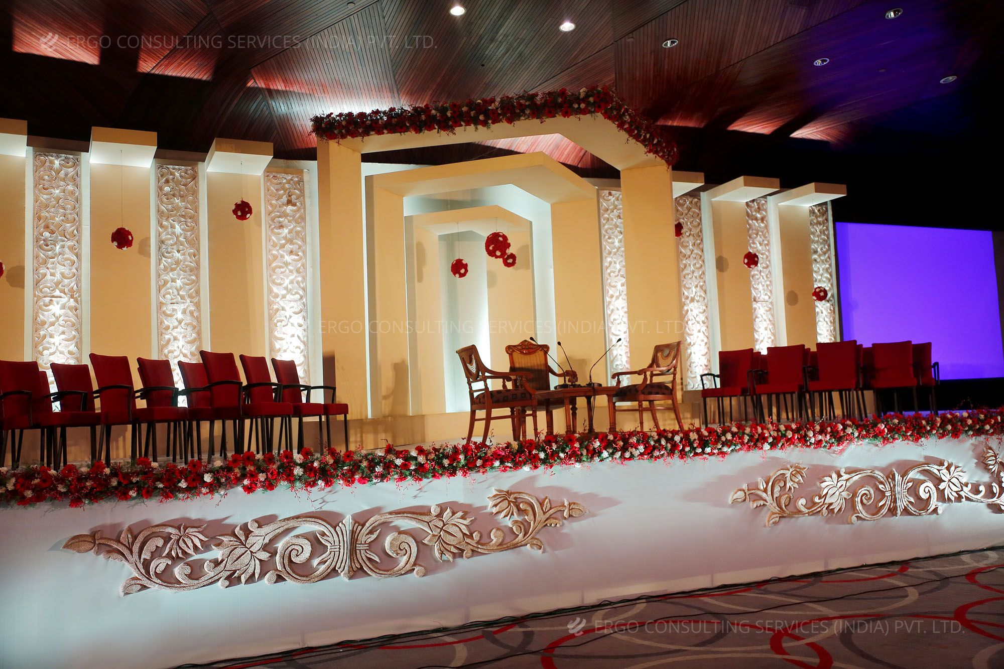 Stage Decoration Ideas Design Elegant Designer Stage Adorned With Red Roses Stage