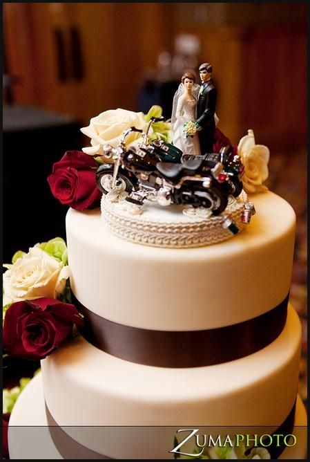 Harley Davidson Wedding Cake Toppers Top Motorcycle Wedding Cake