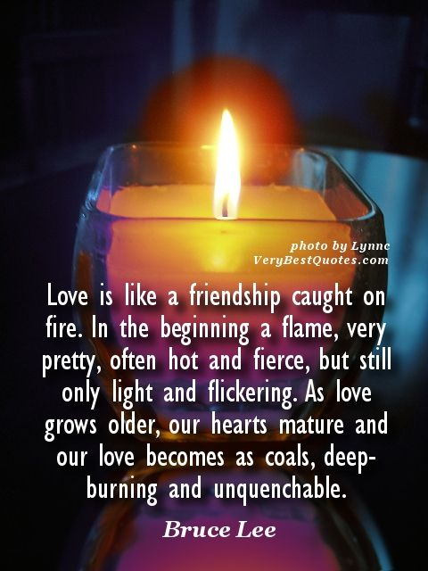 Love Quotes Love Is Like A Friendship Caught On Fire In The
