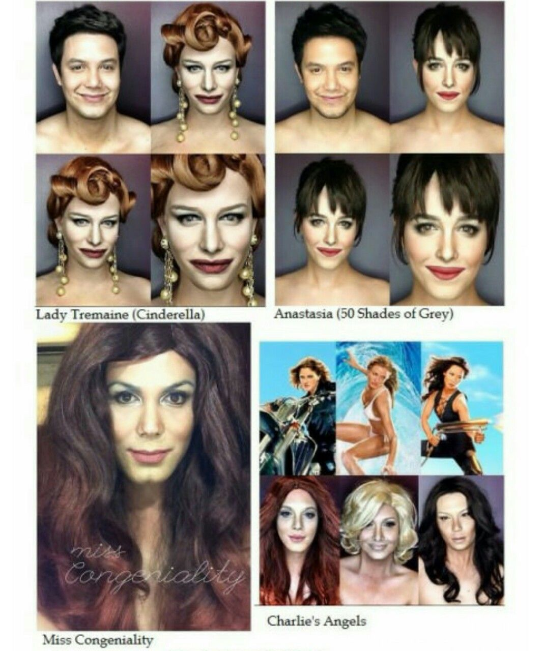 This Guy Transforms Himself Into 43 Famous People with Makeup .. in picture that suppose to be Marlyn Monroe is Madonna..
