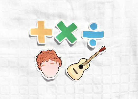 Ed Sheeran Sticker Pack Vinyl Stickers Ed Sheeran