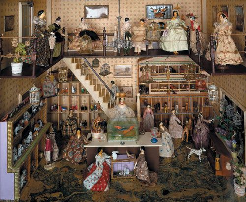 Dollhouse Exhibition And Toy: Victorian Pet Shop. Ilkley Toy Museum