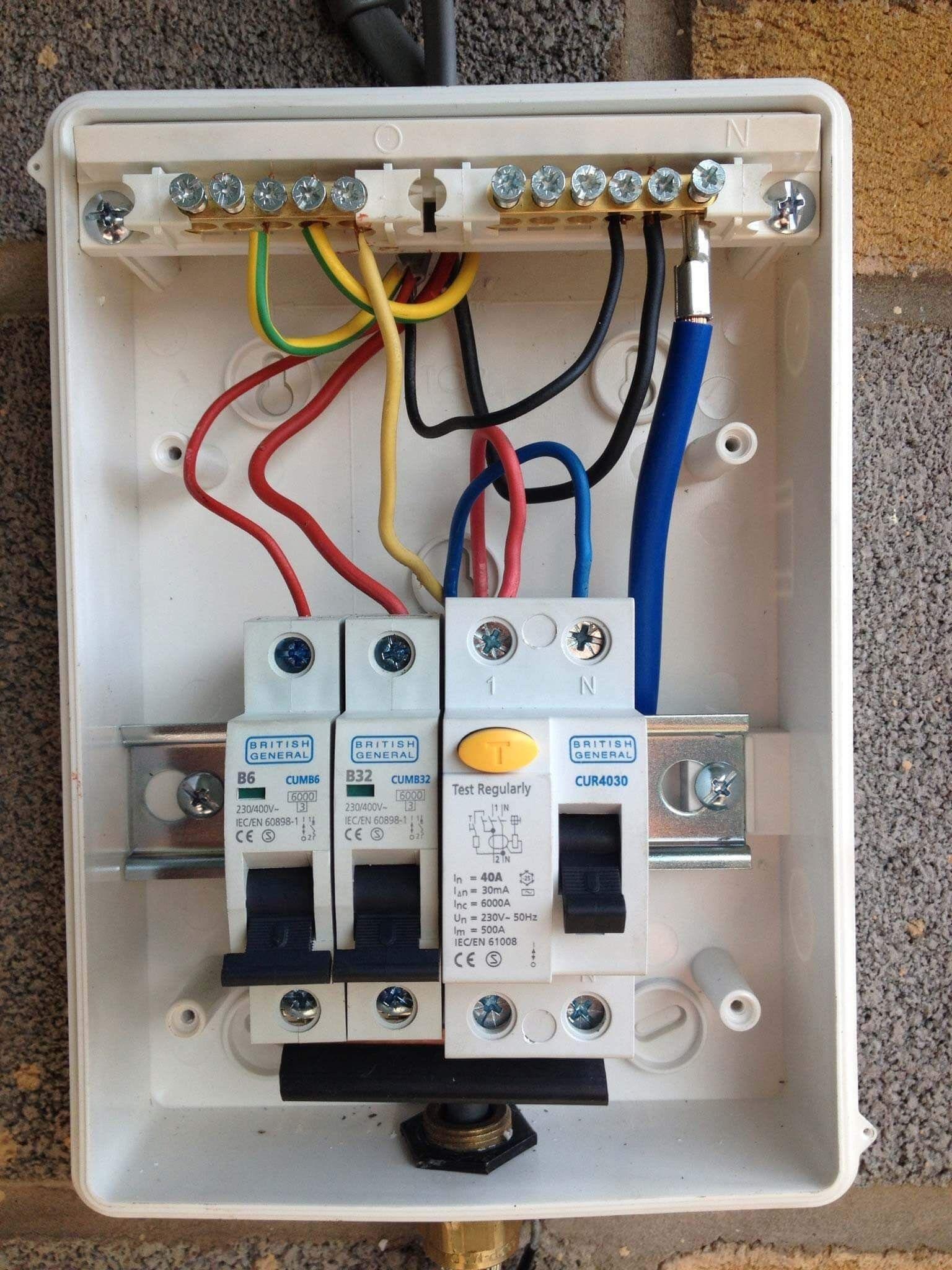 Unique Wiring Diagram For A Garage Consumer Unit Diagram Diagramtemplate Diagramsample Diy Electrical Home Electrical Wiring Electricity